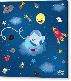 Sleepy In Space Acrylic Print by Seedys