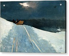 Sleigh Ride Acrylic Print by Winslow Homer