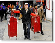 Slices Of Chinese Life Acrylic Print by Christine Till