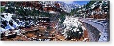 Slide Rock Creek, Sedona, Arizona Acrylic Print by Panoramic Images