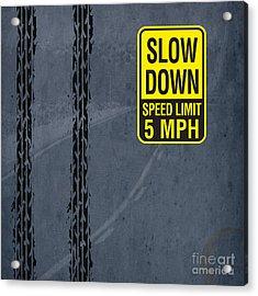 Slow Down, Man Acrylic Print by Pablo Franchi