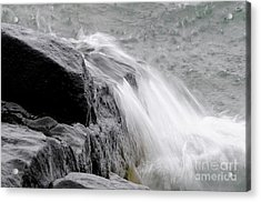 Slow Motion Wave Runoff Acrylic Print by Sandra Updyke