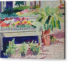 Small Garden Scene Acrylic Print by Terry Holliday