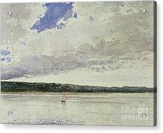 Small Sloop On Saco Bay Acrylic Print by Winslow Homer
