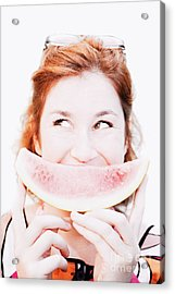 Smiling Summer Snack Acrylic Print by Jorgo Photography - Wall Art Gallery
