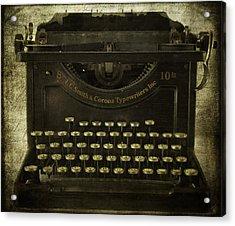 Smith And Corona Typewriter Acrylic Print by Cindi Ressler