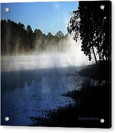 Smoke On The Water Acrylic Print by DigiArt Diaries by Vicky B Fuller