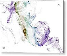 Smoke Seahorse Acrylic Print by Nailia Schwarz
