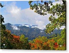 Smokey Mountain Mountain Landscape Acrylic Print by James Fowler