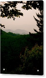 Smokey Mountains At New Found Gap Acrylic Print by Kimberly Camacho