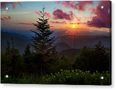 Smoky Mountain Sunset Acrylic Print by Christopher Mobley