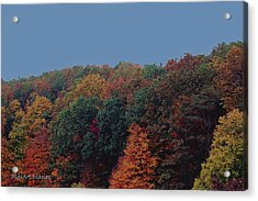 Smoky Mountains In Autumn Acrylic Print by DigiArt Diaries by Vicky B Fuller