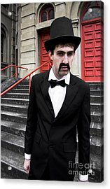 Snarling Top Hat Man Acrylic Print by Jorgo Photography - Wall Art Gallery