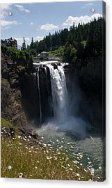 Snoqualmie Falls Hydroelectric Plant Acrylic Print by Stacey Lynn Payne