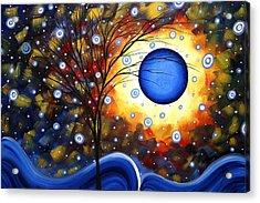 Snow Burst Cirlce Of Life Painting Madart Acrylic Print by Megan Duncanson