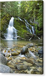 Snow Creek Falls Acrylic Print by Idaho Scenic Images Linda Lantzy