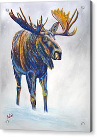 Snow Day Acrylic Print by Teshia Art