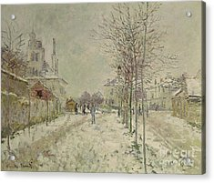 Snow Effect Acrylic Print by Claude Monet