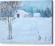 Snow In Sutton Acrylic Print by Sandra Frosst