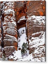 Snow Stripes Acrylic Print by Christopher Holmes