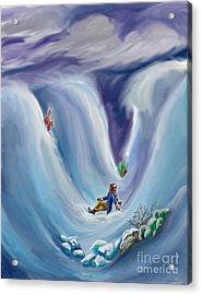 Snow Tang - Story Illustration 6 - Age 12 Acrylic Print by Dawn Senior-Trask