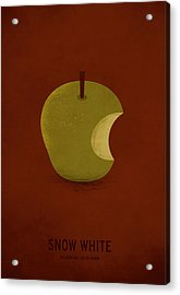 Snow White Acrylic Print by Christian Jackson