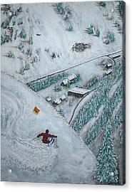 Snowbird Steeps Acrylic Print by Michael Cuozzo