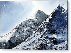 Snowdon Acrylic Print by Paul Dene Marlor