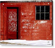 Snowed In Acrylic Print by Ed Smith