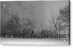 Snowfall At Night Acrylic Print by Mark Watson (kalimistuk)