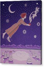 Snowflight Acrylic Print by Karen MacKenzie