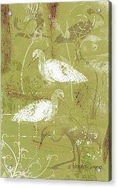 Snowy Egrets Acrylic Print by Arline Wagner