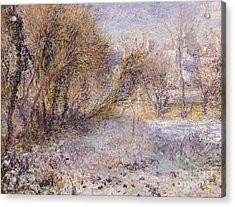 Snowy Landscape Acrylic Print by Pierre Auguste Renoir