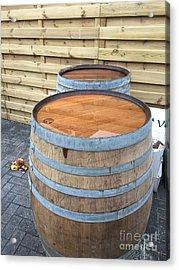 Soaked Barrels Acrylic Print by Evan N
