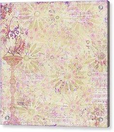 Soft Elegant Floral Pattern Peachy Mauve Design By Megan Duncanson Acrylic Print by Megan Duncanson