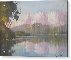Soft Reflections Acrylic Print by Len Stomski