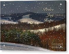 Soft Sifting Christmas Card Acrylic Print by Lois Bryan