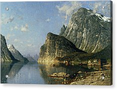 Sogne Fjord Norway  Acrylic Print by Adelsteen Normann