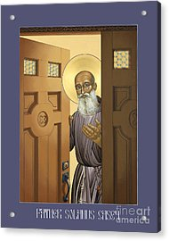 Solanus Casey - Lwvsc Acrylic Print by Lewis Williams OFS
