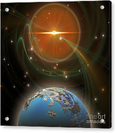 Solar Message Acrylic Print by Corey Ford