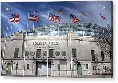 Soldier Field Acrylic Print by David Bearden