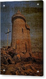 Solidor And The Cross Acrylic Print by Karo Evans