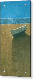 Solitary Boat Acrylic Print by Steve Mitchell