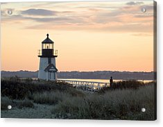 Solitude At Brant Point Light Nantucket Acrylic Print by Henry Krauzyk