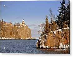 Solitude Rock Acrylic Print by Whispering Feather Gallery
