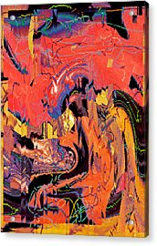 Something I Didn't Really Notice In The Bank Lobby 2015 Acrylic Print by James Warren