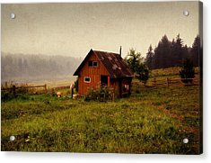 Somewhere In The Countryside. Russia Acrylic Print by Jenny Rainbow