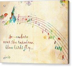 Somewhere Over The Rainbow Acrylic Print by Nikki Smith