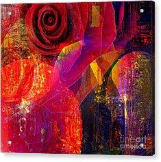 Song Of Solomon - Rose Of Sharon Acrylic Print by Fania Simon
