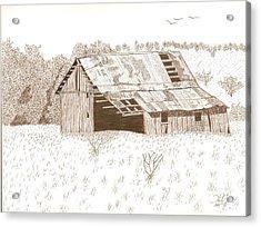 Sonora Barn Acrylic Print by Pat Price